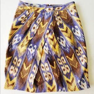 Tory Burch Linen Jemima Ikat Skirt